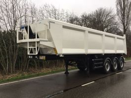 tipper semi trailer Stas Stas kipper 3 asser 35 kuub /Steel bucket/ LIKE NEW 2014