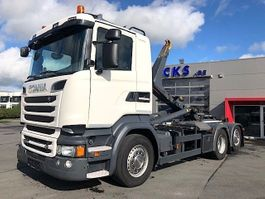container truck Scania R520LB-6X2/4-V8 MOTOR-3M90 WIELBASIS-HAAKARM-EURO6-155000KM!! 2015