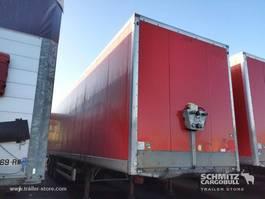 closed box semi trailer Samro Droge vracht Roldeur Hydr. laadklep 2011