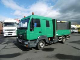 samochód dostawczy z nadwoziem burtowym MAN 8.140 L2000 Winde + Rampe! 6 x Sitzplätze