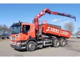 tipper truck > 7.5 t Scania P 380 - 6x4 - EURO 4 - RETARDER - HMF 13 T/M KRAAN + KIPPER - PERFECTE S... 2007