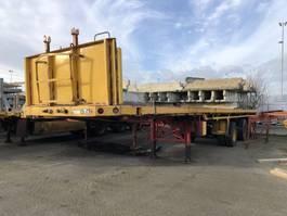 flatbed semi trailer Floor FLUO-18-30H | Uitschuif Extendable Aussiehbahr 7mtr-20mtr Kraan 1990