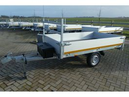 drop side full trailer Eduard Plateauwagen Bij Eemsned afm 260 x 150 massa 750 kg