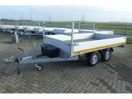 drop side full trailer Eduard Plateauwagen Bij Eemsned afm. 3,30 x 1,80 mtr massa 2700 kg