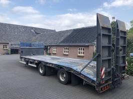 semi lowloader semi trailer Kaessbohrer Dieplader Bladgeveerd | Lowloader Leaf | Tieflader Blatt | Hydraulic Ramps 1976