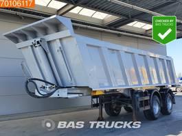tipper semi trailer Meiller TR 2 2 axles 22m3 Stahl Kipper Liftachse 2012