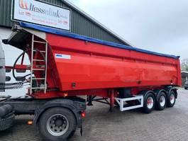 tipper semi trailer Mol 34m3 ALU, Naloop stuuras, Automatisch zeil, Alcoa, 5.870KG 2005