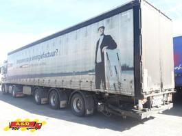 sliding curtain semi trailer Pacton Schuifzeiloplegger met 2 stuurassen
