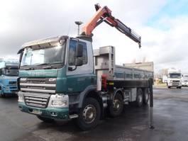 tipper truck > 7.5 t DAF cf85.410 8x4 kipper   kraan 2008