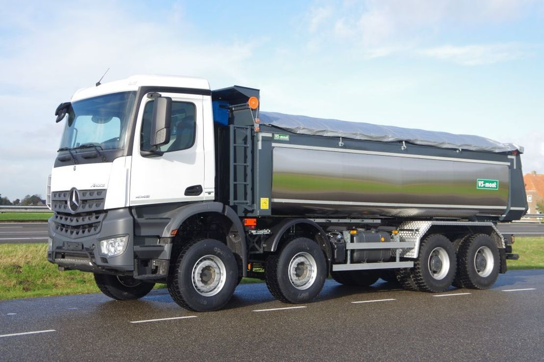 LKW Kipper > 7.5 t Mercedes-Benz Arocs 4145-K 8x4 - Euro 6 - 20m3 VS-Mont Isolated Tipper - HYVA Cover - NEW