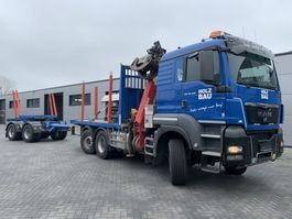 timber truck MAN TGS 28 480 6x4-4 Euro 5 EEV Holz transporter Fly jib and winch (Zimmerei) 2012