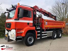 tipper truck > 7.5 t MAN TGS 33.440 6X6 BB kipper met kraan manual 2008
