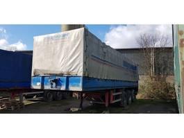 tilt semi trailer Schmidt 2 x trailers 3 axel trailer with sideboards 1991