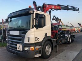 camión contenedor Scania P320 + HMF 1580 T3 2011 2011