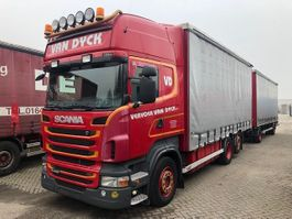 sliding curtain truck Scania R440 6X2-4 MET 2AS LAG MANUEL+RETRDER 2011