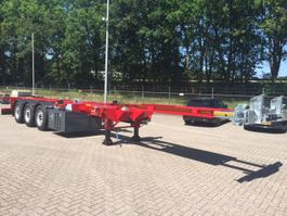 container chassis semi trailer LeciTrailer Multi Container Chassis Voor, midden en achterschuiver Incl. Rovanda Gen... 2020