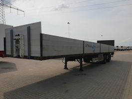 flatbed semi trailer Fliegl SZS 350 Taillift 2500 Kg 2010