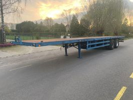 flatbed semi trailer Trailor 2 axle double tyres twistlocks 1990