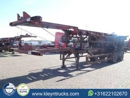 container chassis semi trailer Netam 40 FT 2 AXLES BPW full steel 1973