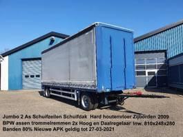 sliding curtain trailer Jumbo MV 200.6 2 As Schuifzeilen Schuifdak Zijborden Hard houtenvloer 2009