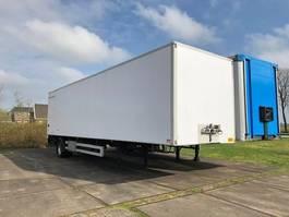 closed box semi trailer Cuppers gesloten city trailer gestuurd 2.30 m binnenhoogte zeer nette staat 2004