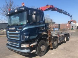 crane truck Scania R420 8X2 FULL STEELSPRING PALFINGER PK16502 REMOTE CONTROLE ROBSON DRIVE 2006