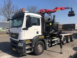container truck MAN TGS 35.440 EEV + PALFINGER Q200Z95TR 2016 2013