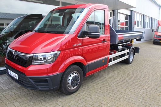 Container-LKW MAN TGE 5.180 Haakarm met container 2018