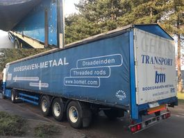 sliding curtain semi trailer Lag 3-ESSIEUX BACHER RIDELLES / 3-AXLES CURTAINSIDE + ALU SIDEBOARDS / 3-ACH... 1996