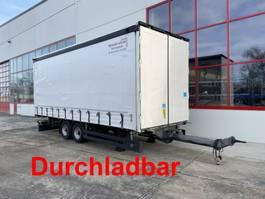 sliding curtain trailer Möslein TPW 105 D Schwebheim  Tandem- Planenanhänger durchladbar-- Wenig Benutzt - 2018