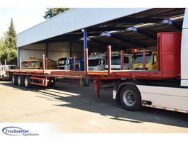 flatbed semi trailer Schmidt CBY 014, Extended, Steering, Truckcenter Apeldoorn 1997