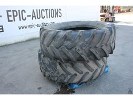 Wheels- with tire set truck part Michelin XM108 600/65R34