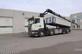 tipper truck > 7.5 t Scania R420 med Hiab 244E5 2008