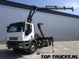 crane truck Iveco Trakker 450 6x4 - Hiab 14 TM Kraan, Crane, Kran - 19 T Haakarm, Hooklift... 2007
