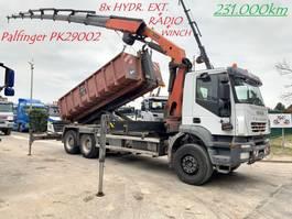 container truck Iveco TRAKKER 360 - 6x4 - HAAK + KRAAN PALFINGER PK29002 (29Tm) 8x HYDR UITSCH... 2007