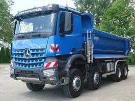 drop side truck Mercedes Benz AROCS 4142 8x8 EURO6 Muldenkipper Carnehl TOP!