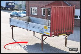 curtain slider swap body container Krone WB 7,45 BDF, Pritsche, Bordwand, Baustoff L 7300 2000