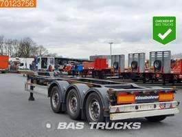 container chassis semi trailer Kaessbohrer CS Liftachse Ausziehbar 2x20-1x30-1x40-1x45 ft. 2016