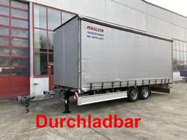 sliding curtain trailer Möslein TP 11-D Schwebheim  Tandem- Schiebeplanenanhänger zum Durchladen 2016
