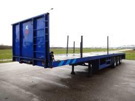 flatbed semi trailer Lintrailers 3 As Oplegger Open, OH-95-DJ 2003