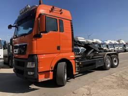 container truck MAN TGX 26.440 6X2-4 BL-XLX Abroller-Lenk-Lift-Intarder 2008