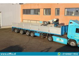 flatbed semi trailer Pacton 4-ass. Steenoplegger 2004 met Kennis 14 ton/mtr. 2003 2004
