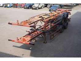 container chassis semi trailer Ackermann Container chassis 2-axles/ 40ft. / Full Steel 1974
