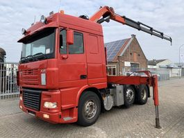 cab over engine DAF FTG XF 95.430 6x2 euro 3 Manual gearbox with Palfinger crane 2003