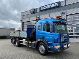 Kranwagen Scania 114 6x2 Grua Hiab 220 , 7 lancas!! Basculante 1999