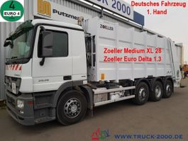 garbage truck Mercedes Benz 4136 Zoeller 28m³ Zoeller 1.3 Schüttung 1. Hand 2009