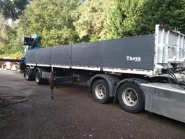 flatbed semi trailer Pacton EFFER 370 + JIB **BELGIUM TRAILER** 2006