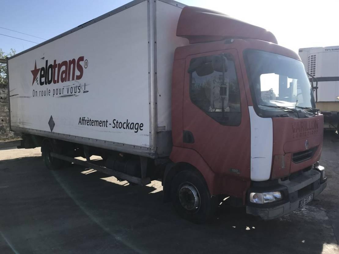 closed box truck > 7.5 t Renault MIDLUM 180 2001