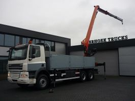 crane truck DAF CF 85 410 6x4 euro 5 Montagekraan PK 25001EL 2008