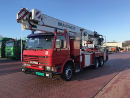 mounted boom lift truck Scania 113 H 320 BRONTO F 24 HDT 1996
